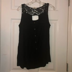 Black fashion tank top